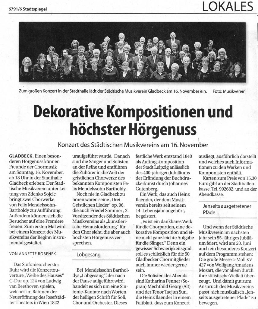 Stadtspiegel. 08.11.2014